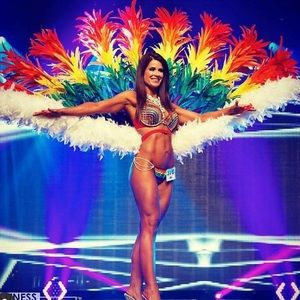WBFF Fitness Bikini Comp Rainbow Theme Wear